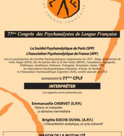 Congrès des Psychanalystes de Langue Française