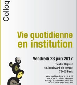 Vie quotidienne en institution